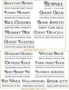 creepy halloween names - Names For A Halloween Party