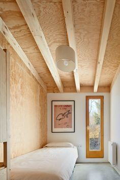 Font Rubi Cottage designed as summer house in the Pyrenees by Marc Mogas & Jordi Roig - CAANdesign Plywood Interior, Plywood Walls, Interior Architecture, Interior And Exterior, Interior Plants, Exterior Paint, Exterior Design, Cottage Design, House Design