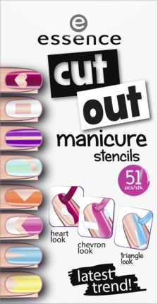 Nagelsticker cut out manicure stencils dare to be bare