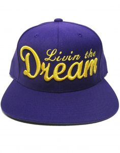 Livin  the Dream Men s Snapback Hat Purple  amp  Gold (LA Lakers  Inspiration) 33c1269f82f8