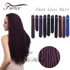 Black  Dreadlock Faux Locs Crochet Hair Man Dreadlocks Extensions Curly Dreads Hairstyles Afro Twist Braid Men Locs Dread