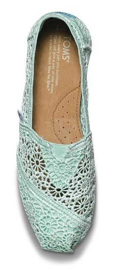 Mint crochet lace | TOMS