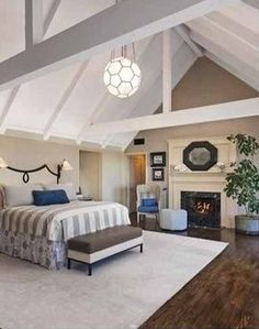 Stunning bedroom in Miranda Kerr's new home.