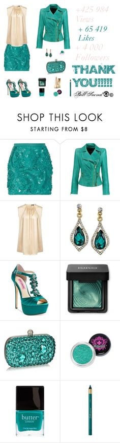 """""""Peacock & Nude Outfit"""" by billsacred ❤ liked on Polyvore featuring Antonio Berardi, Balmain, Joseph, 2028, Betsey Johnson, Butter London, L'Oréal Paris and Burberry"""