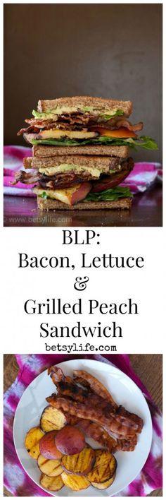 ... , Lettuce and Grilled Peach Sandwich made entirely on the grill