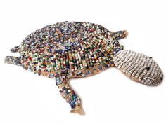 Original and Early Sioux Indian Beaded Turtle Fetish | From a unique collection of antique and modern native american objects at http://www.1stdibs.com/furniture/folk-art/native-american-objects/