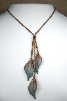 3-Leaf Dangle Necklace: Sarah Cavender: Metal Necklace - Artful Home