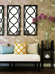 22 Great Decorative Mirrors for your Home.  Reflect the beautiful interior design of your home with decorative mirrors.