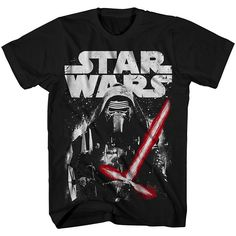 Big & Tall Star Wars: Episode VII The Force Awakens Kylo Ren Tee, Men's, Size: Xl Tall, Black