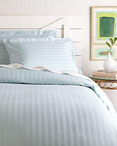 Rue La La — 500TC Stripe Egyptian Cotton Duvet Set