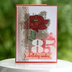 You've Got This 85th Birthday card, Larger than Life Alphabet.Stampin' Up!