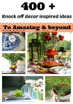 400+ knock off inspired ideas that I asked bloggers to emulate from PB, Ballard, Country living, BHG and many more! Full gallery.
