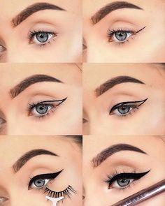 When you used to struggle with winged eyeliner, but then…. 🙌🏼… When you used to struggle with winged eyeliner, but then…. 🙌🏼🙌🏿🙌🏽🙌🏾🙌🏻 Comment your fave emoji if you can relate! Cat Eye Eyeliner, Eyeliner Shapes, Natural Eyeliner, No Eyeliner Makeup, Thin Eyeliner, Eyeliner Pencil, Cat Eye Makeup Tutorial, Winged Eyeliner Tutorial, How To Do Winged Eyeliner