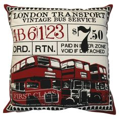 I pinned this Ticket Pillow from the Design Report: London Calling event at Joss and Main!