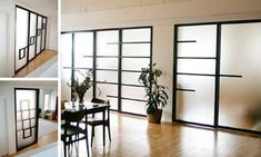 Semi-transparent, wood-framed, sliding screen doors from Raydor are much like the classic rice-paper ones of Japan, these models come with a bit of a twist. Wooden Screen Door, Sliding Screen Doors, Sliding Door Design, Sliding Wall, Modern Sliding Doors, Glass Front Door, Sliding Glass Door, Double Doors, Interior Barn Doors