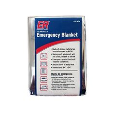 ER Emergency Ready Thermal Mylar Blankets Pack of 4 ** You can find more details by visiting the image link.