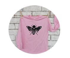NEW! Long Sleeved Toddler Bee Shirt Bee with Lace by CausticThreads http://etsy.me/1MNqwCz via @Etsy #toddler #bee #graphictee #tshirt 3CausticThreads