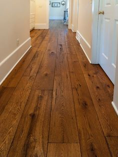 I love wide plank wood. The Olde World look has been growing steadily in popularity and our wide plank livesawn White Oak offered with custom finishing options has been a real hit! Contact us for samples in your choice of stain and finish. Hardwood Floor Colors, Dark Hardwood, Engineered Hardwood Flooring, Parquet Flooring, Hardwood Floors Wide Plank, Wide Plank Wood Flooring, Vinyl Flooring, Cheap Wooden Flooring, Cheap Flooring Ideas