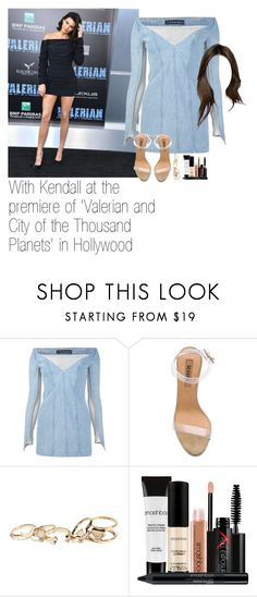 """""""With Kendall at the premiere of 'Valerian and City of the Thousand Planets' in Hollywood"""" by kylizie ❤ liked on Polyvore featuring Y/Project, adidas, GUESS, Smashbox, life, celebrity and kendalljenner"""