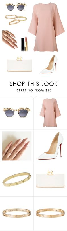 """""""Senza titolo #45"""" by viola-sandroni ❤ liked on Polyvore featuring Valentino, Christian Louboutin, Cartier, Ted Baker and Chanel"""