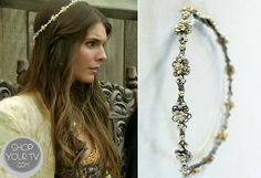 Shop Your Tv: Reign: Season 1 Episode 4 Kenna's Floral Beaded Headband Reign Hairstyles, Reign Fashion, Vintage Headbands, Let Your Hair Down, Crown Jewels, Silver Roses, Fashion Pictures, Hair Pieces, Queen