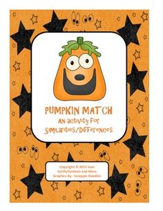 Match - An Activity for Similarities/Differences Pumpkin Match - An Activity for Similarities/DifferencesPumpkin Match - An Activity for Similarities/Differences Speech Activities, Language Activities, Speech Pathology, Speech Therapy, Similarities And Differences, 50 Words, Matching Cards, Special Education Teacher, Speech And Language