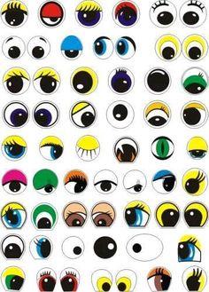 yeux et bouches ou autre a decouper Flower Pot People, Clay Pot People, Silly Faces, Cute Faces, Painted Clay Pots, Painted Rocks, Outline Pictures, Outdoor Pallet Projects, Pot A Crayon