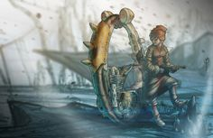 Monowheel Scout by LoperaCano, via Behance Behance, Fictional Characters, Image, Art, Art Background, Kunst, Fantasy Characters, Art Education