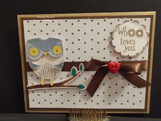 """""""Whoo loves you"""" with K Andrew Owly Hoo stamps and Better Together Cricut Imagine Cartridge"""