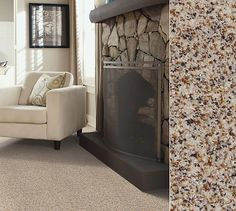 Shaw carpeting constructed with Anso nylon. Style Design Texture Silver Tweed in color Seashell. Beautiful Interiors, Beautiful Homes, Shaw Carpet, Bedroom Flooring, Rugs On Carpet, Carpets, Bedroom Carpet, Carpet Colors, Texture Design