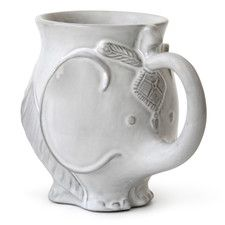 Vintage porcelain elephant figurine white elephant sculpture collectible home decor - Jonathan adler elephant mug ...