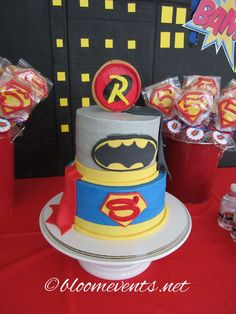 Amazing cake at a superhero birthday party! See more party ideas at CatchMyParty.com!