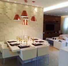 Sala de Jantar para inspirar ✨ Ambiente moderno e aconchegante