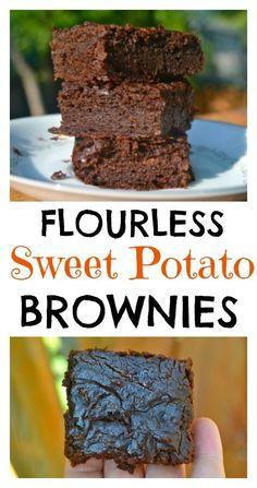 Flourless Sweet Potato Brownies. Naturally Sweetened and very chocolaty!
