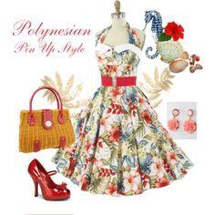 Ivory Hawaiian print halter dress