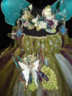 Enchanted Fairy Ware Forest sage and Plum Flower Fairy Blue Butterfly on dress photography & 15 best Celesteu0027s fairy costume images on Pinterest | Costumes ...