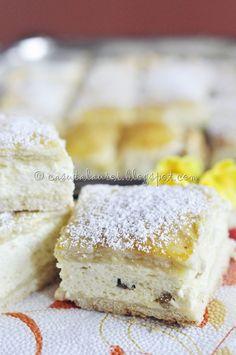 Placinta cu branza dulce Dessert Recipes, Desserts, Vanilla Cake, Food And Drink, Cooking Recipes, Ice Cream, Cookies, Baking, Fruit