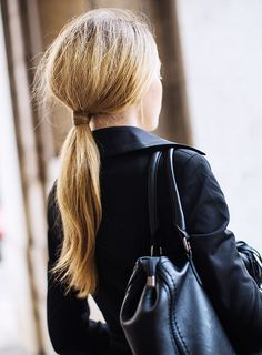 Rock a classic ponytail.