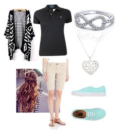 School uniform outfit by merillatb on Polyvore featuring polyvore, fashion, style, Ralph Lauren, KUT from the Kloth, Vans and Finn