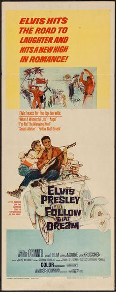 "Movie Posters:Elvis Presley, Follow That Dream (United Artists, 1962). Insert (14"" X 36""). ElvisPresley.. ... Image #1"