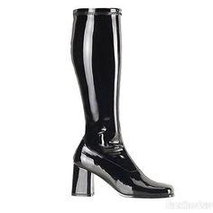 Cat Woman Hero Black GO GO Boots 3 Inch Heel