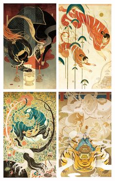 Victo Ngai, SOI 57 Victo Ngai I am extremely honored to. Asian Art, Illustrations And Posters, Drawings, Fantasy Art, Drawing Illustrations, Illustration Design, Painting, Art, Chinese Folk Art
