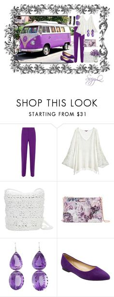 """""""Lilacs in Spring"""" by suzettestokes ❤ liked on Polyvore featuring Vans, Gucci, Calypso St. Barth, Magid, Ted Baker, Trotters and Victoria Beckham"""