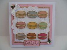 Avery Elle Bonjour macaron stamp set
