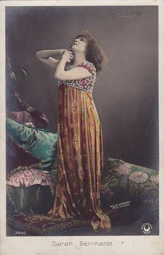 Sarah Bernhardt as Cleopatra..circa 1905