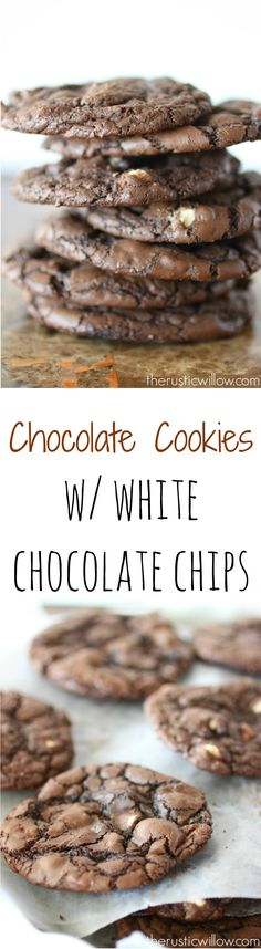 The softest chocolate cookies with white chocolate chips  perfect big batch cookies | therusticwillow.com