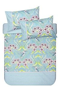 PRINTED ART NOUVEAU FLORAL DUVET COVER SET