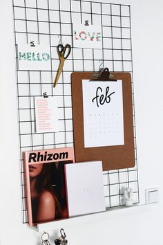 DIY for the perfect grid wall, grid organizer for your home. Wire Grid Wall, String Regal, String Shelf, Wall Organization, Done With You, Inspiration Boards, Organizer, My Room, Bedroom Ideas