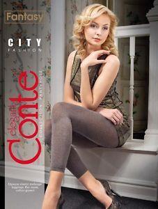 "CONTE Blickdichte Leggings Melange-Leggings ""CITY"" Fantasy Collection"