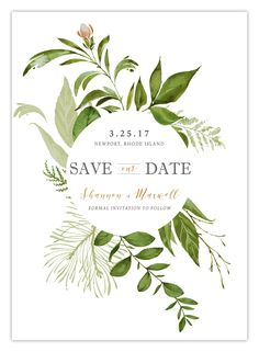 SHANNON SAVE THE DATE – Pretty in Print Paper Co.